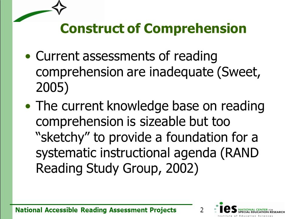 Construct of Comprehension