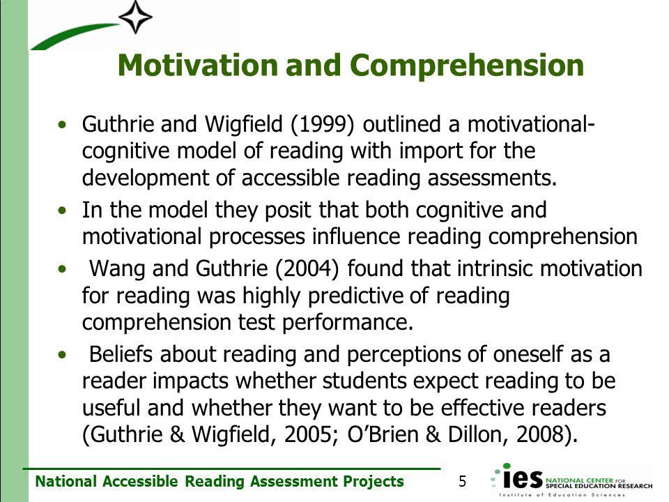 Motivation and Comprehension
