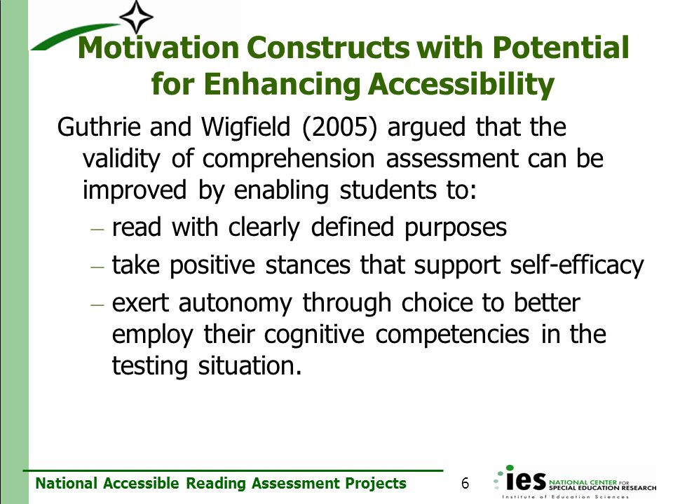 Motivation Constructs with Potential for Enhancing Accessibility