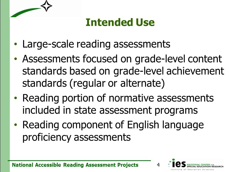 Large-scale reading assessments