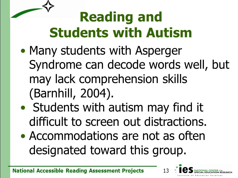 Reading and Students with Autism
