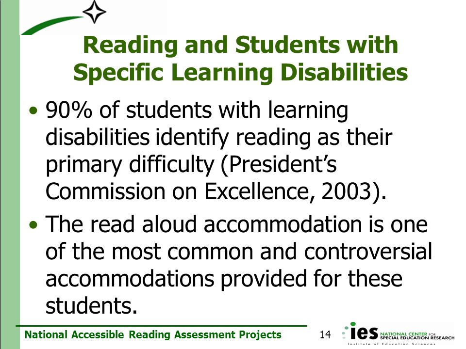 Reading and Students with Specific Learning Disabilities