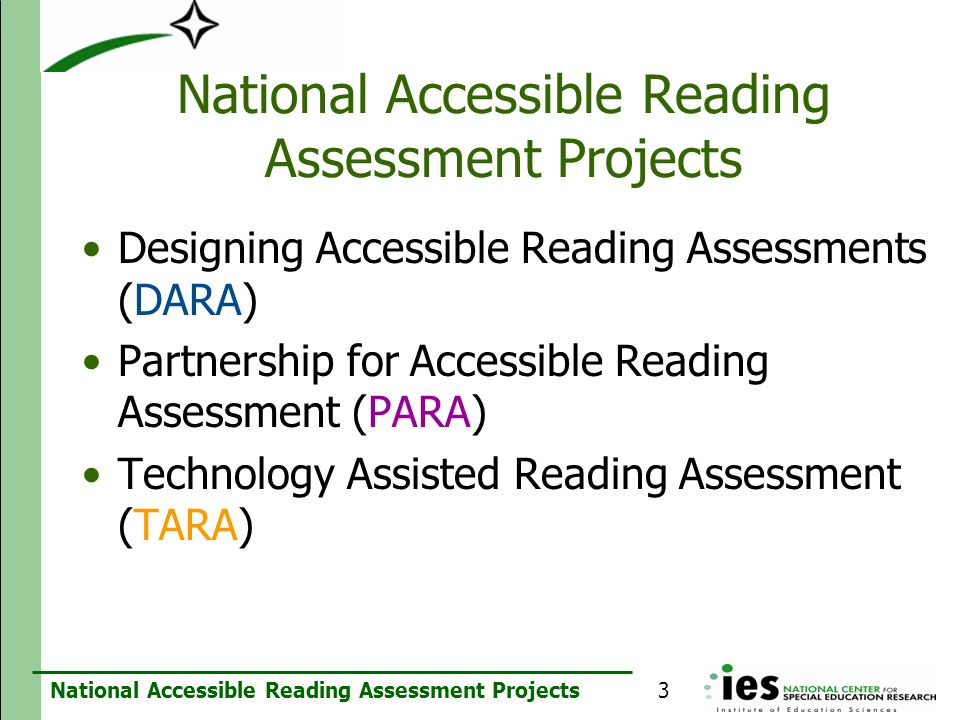 National Accessible Reading Assessment Projects