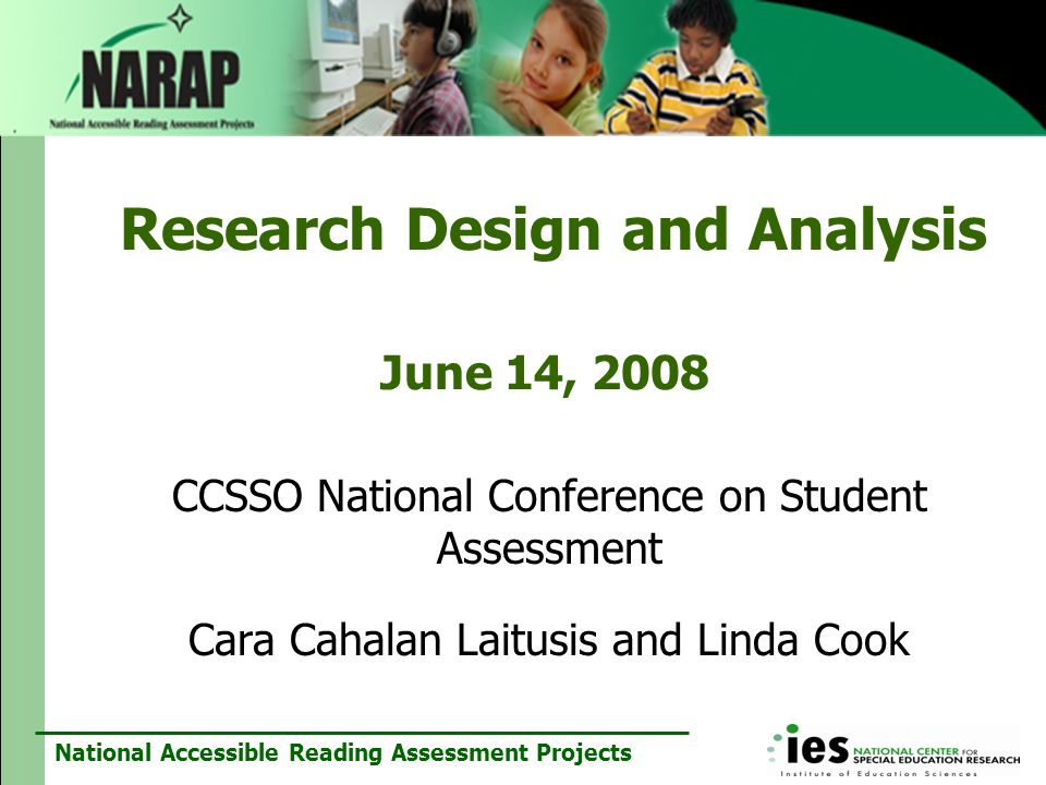 Research Design and Analysis June 14, 2008