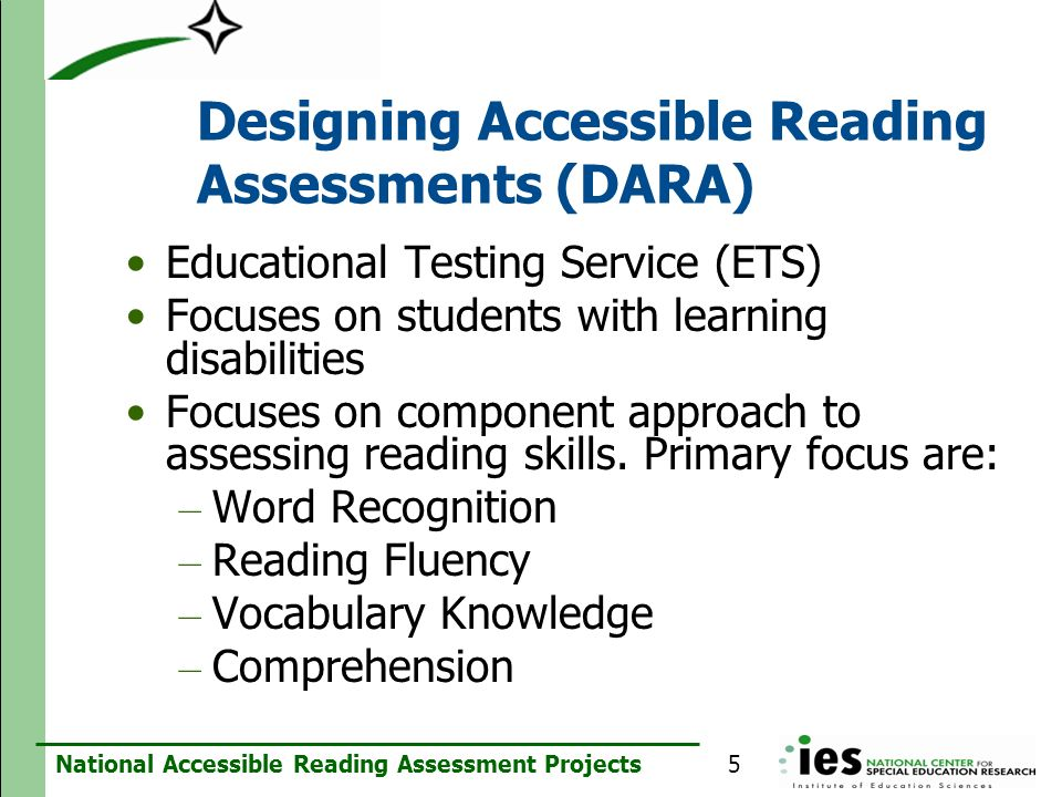 Designing Accessible Reading Assessments (DARA)
