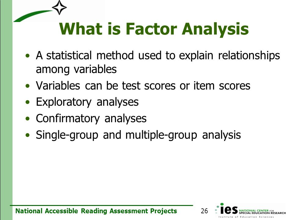 What is Factor Analysis