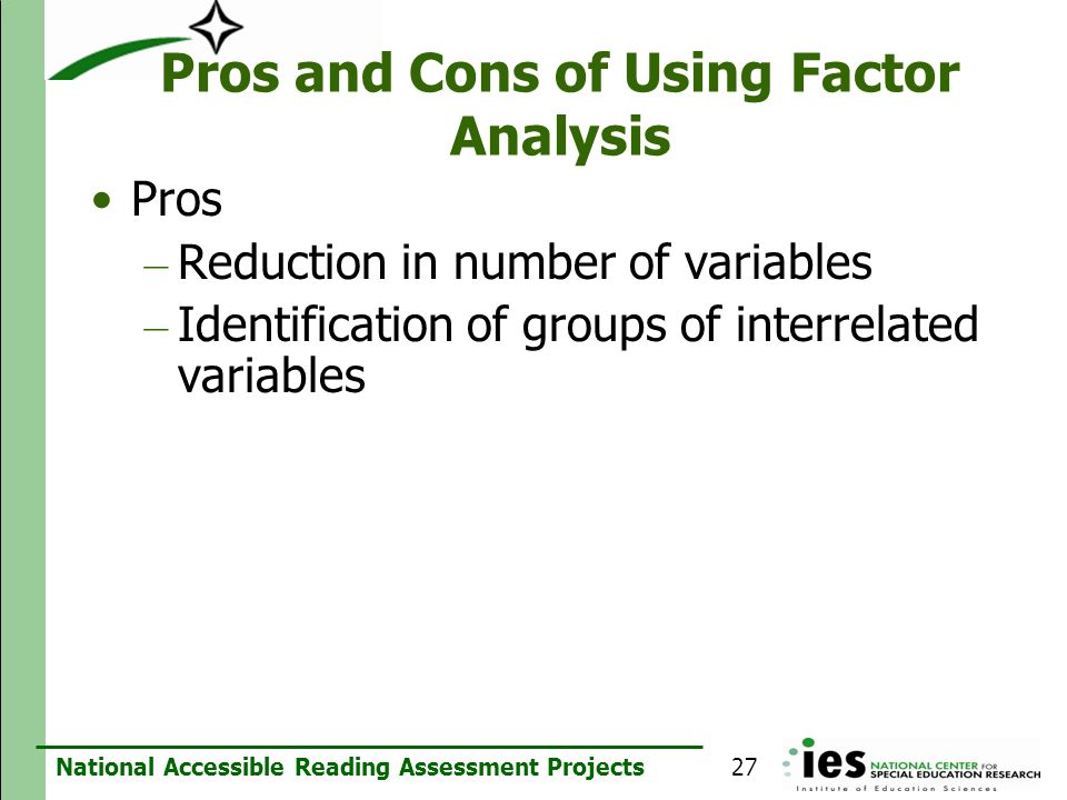 Pros and Cons of Using Factor Analysis
