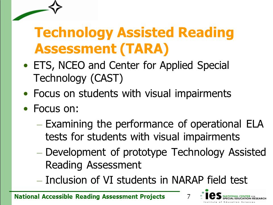 Technology Assisted Reading Assessment (TARA)