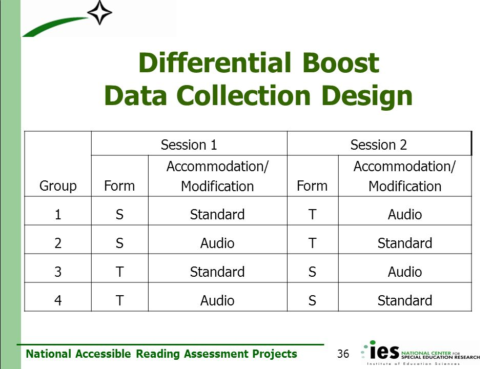 Differential Boost Data Collection Design