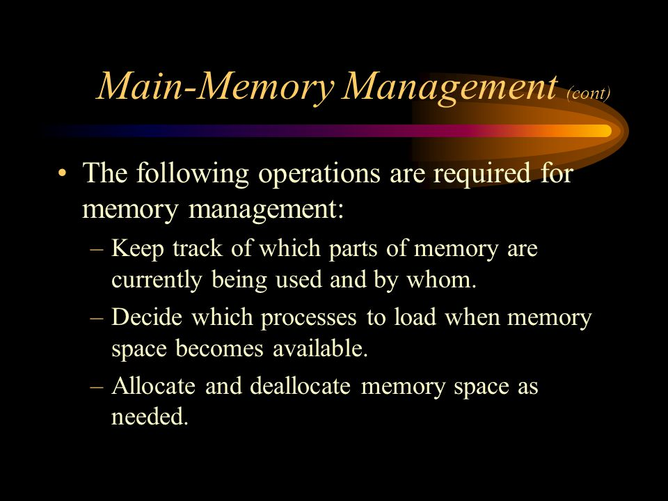 Main-Memory Management (cont)