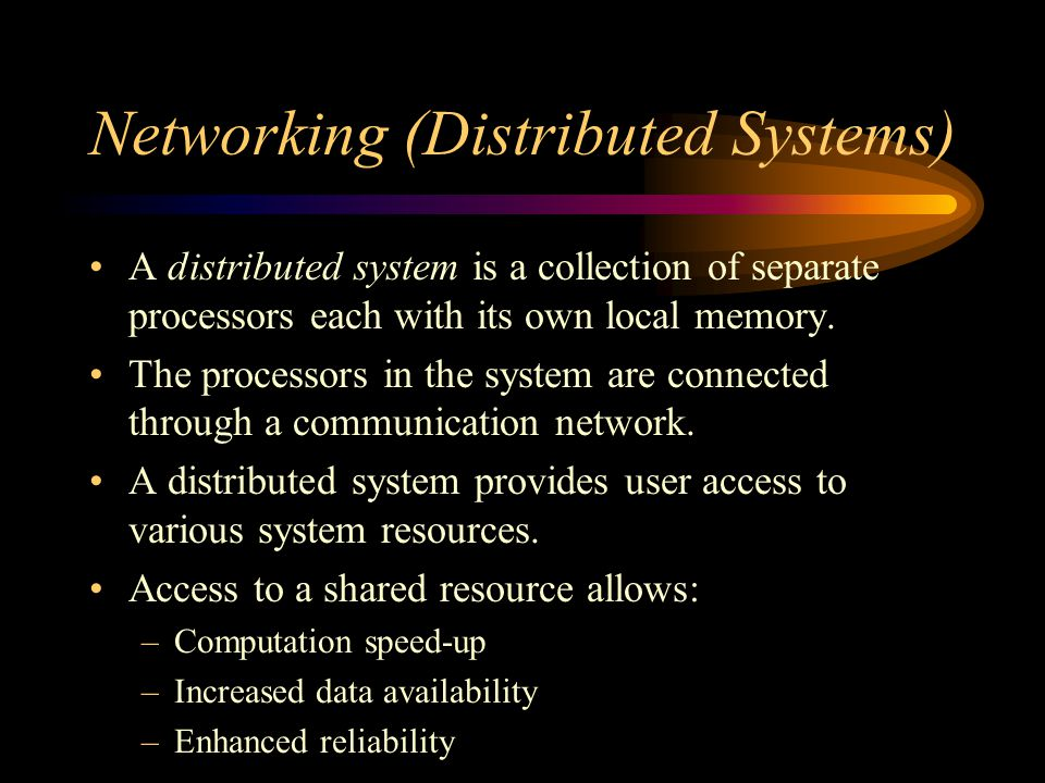 Networking (Distributed Systems)