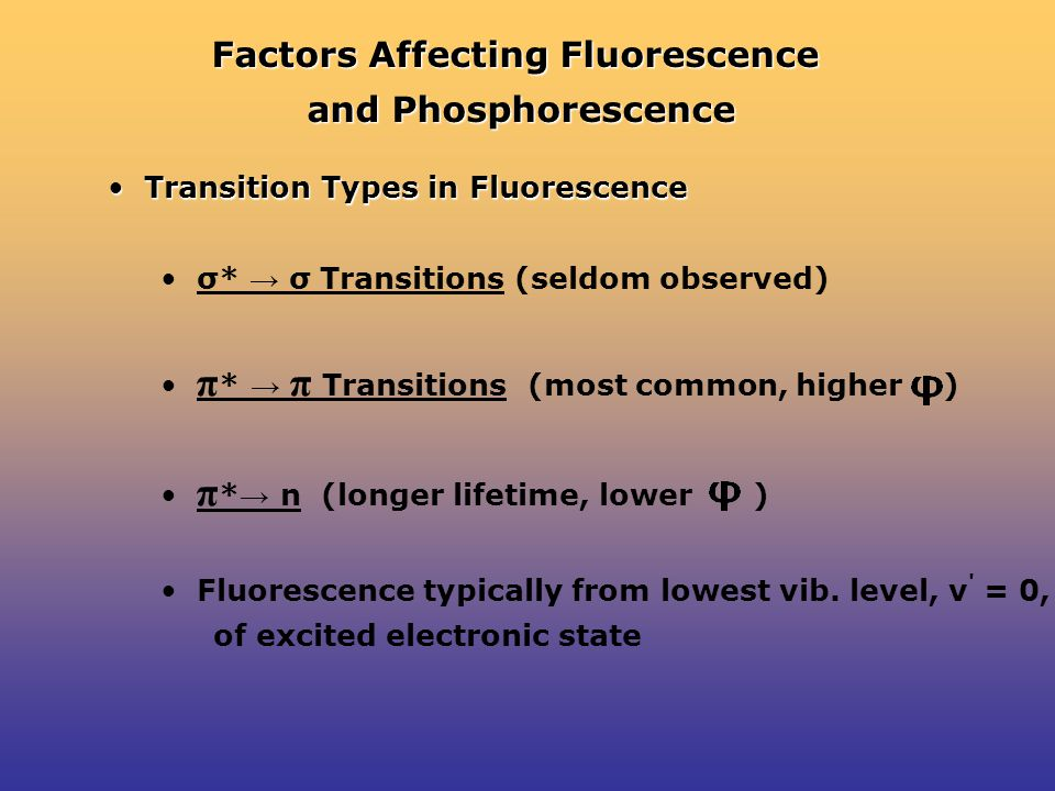 Factors Affecting Fluorescence