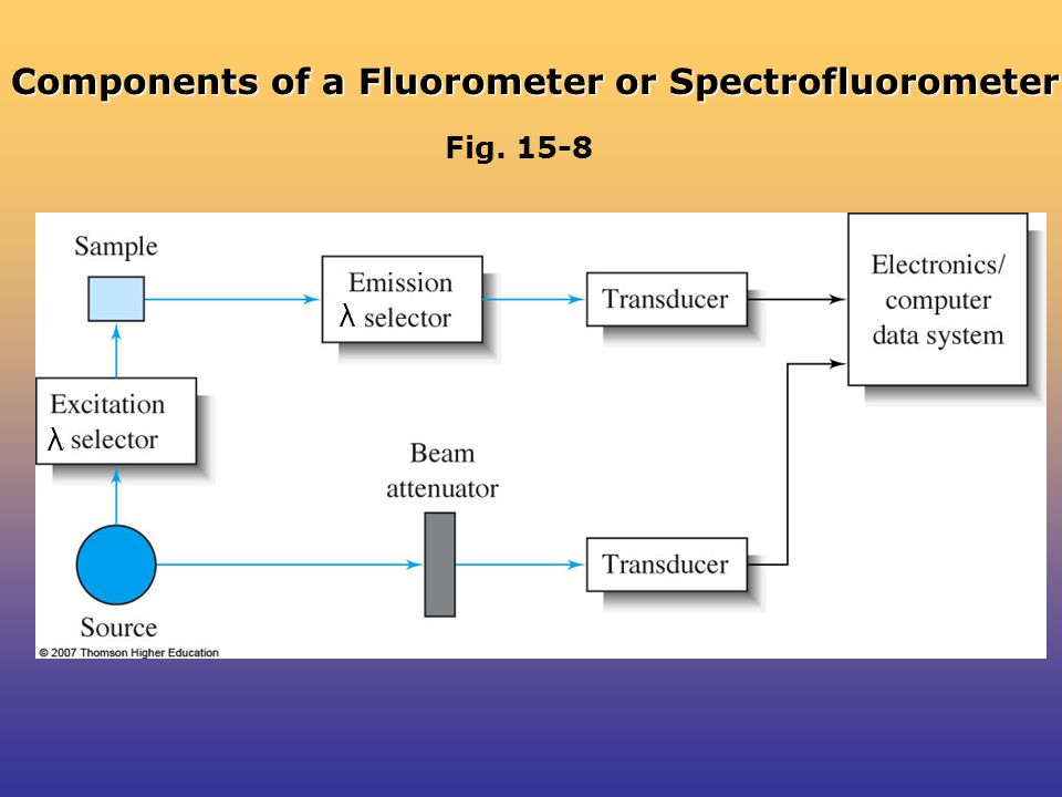 Components of a Fluorometer or Spectrofluorometer