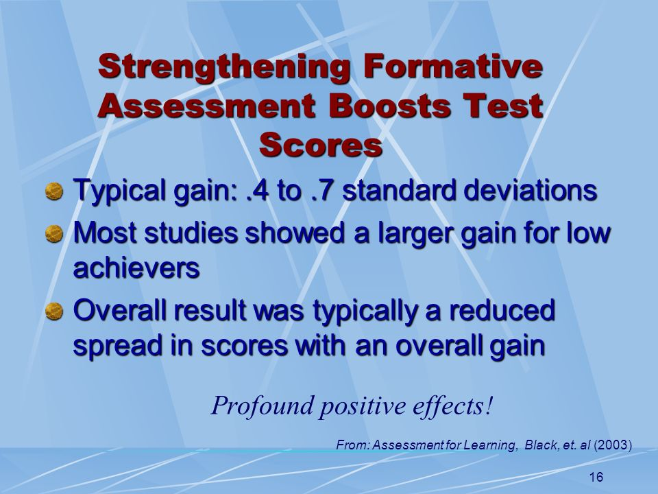 Strengthening Formative Assessment Boosts Test Scores