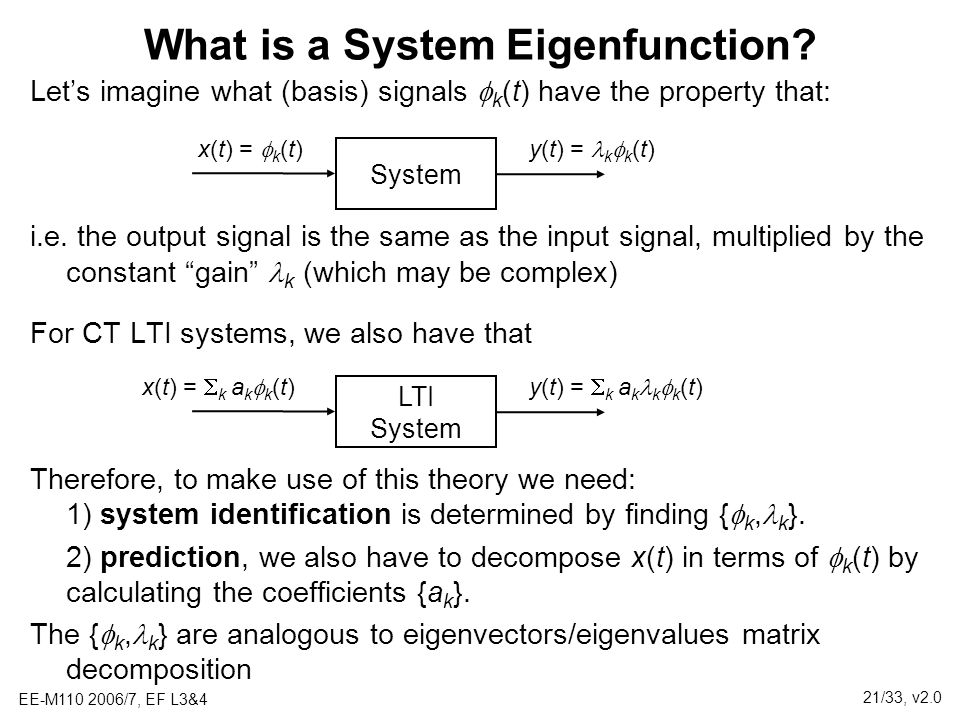 What is a System Eigenfunction