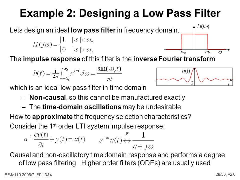 Example 2: Designing a Low Pass Filter
