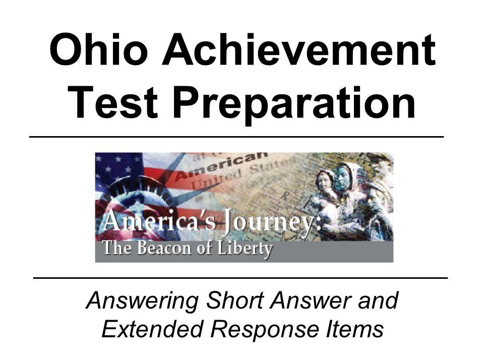 Ohio achievement test preparation ppt download ohio achievement test preparation malvernweather Gallery