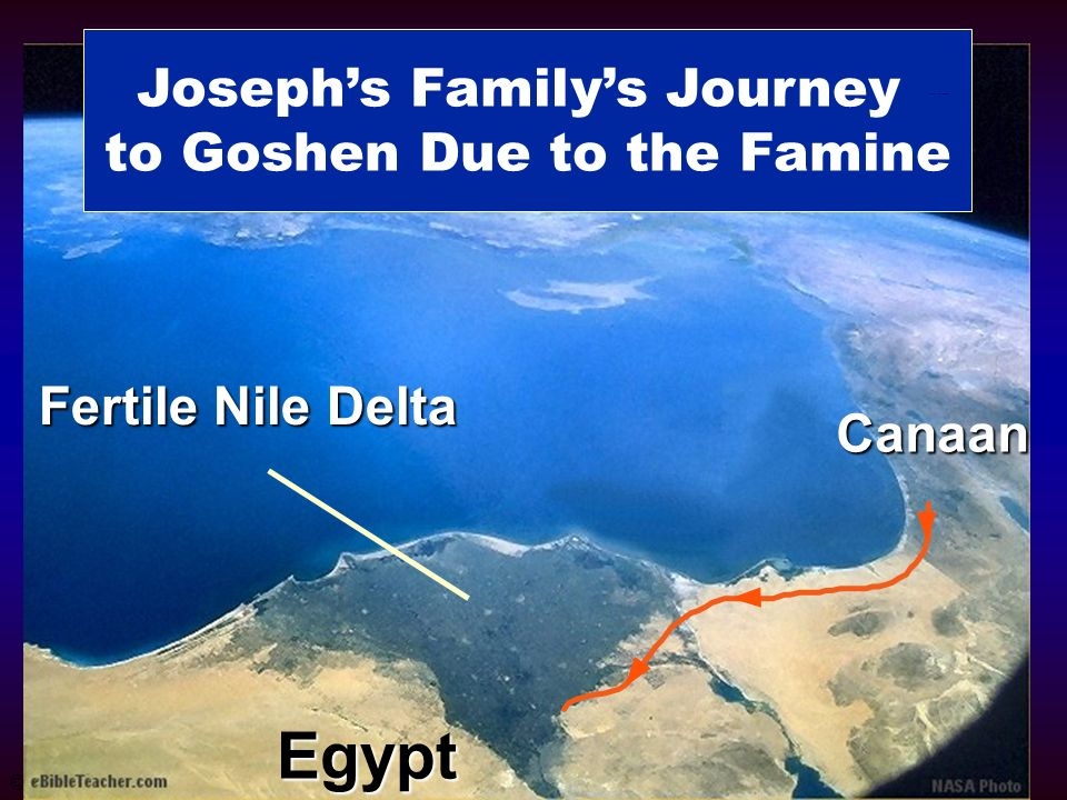 Joseph's Family to Goshen