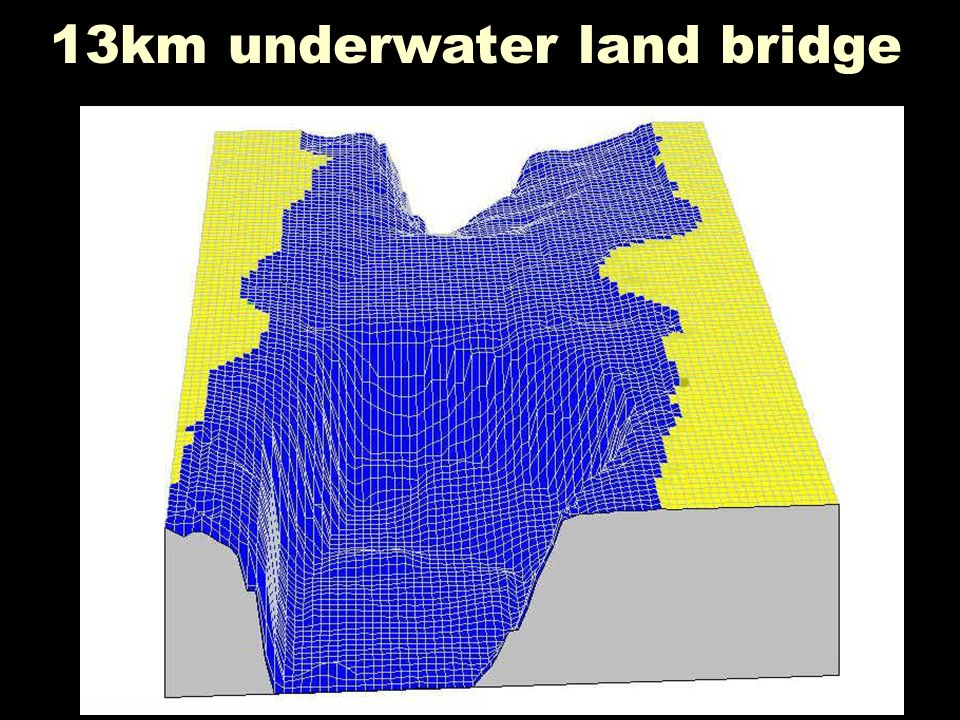13km underwater land bridge