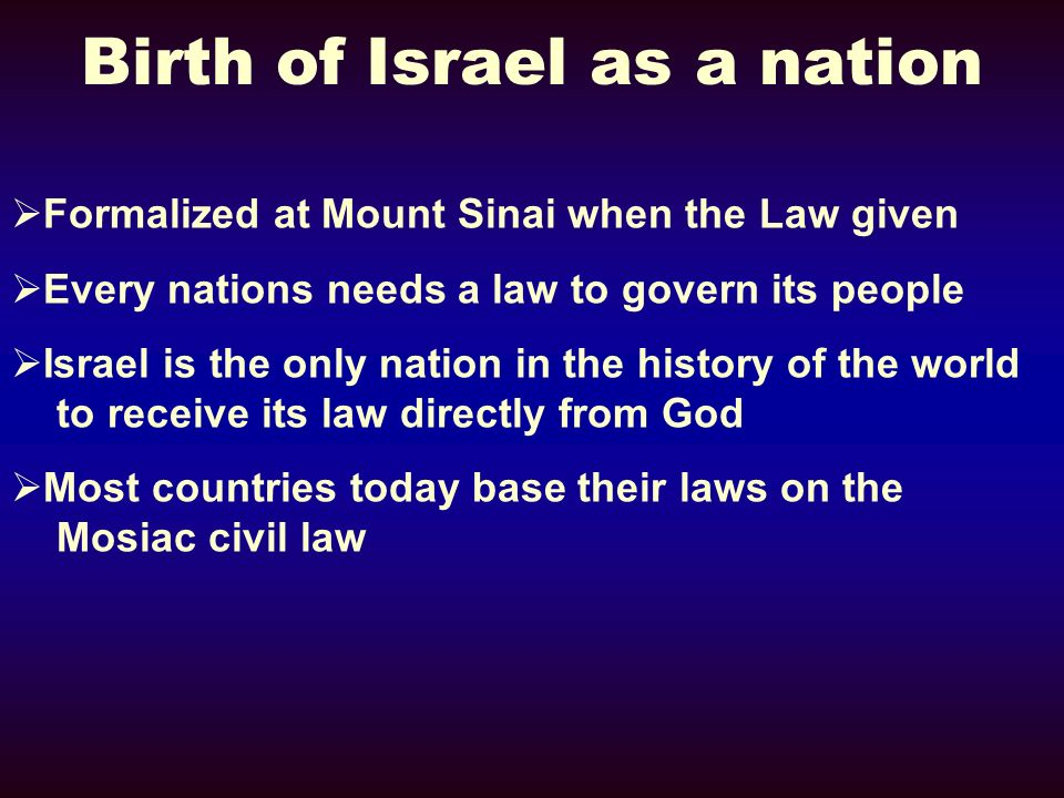 Birth of Israel as a nation
