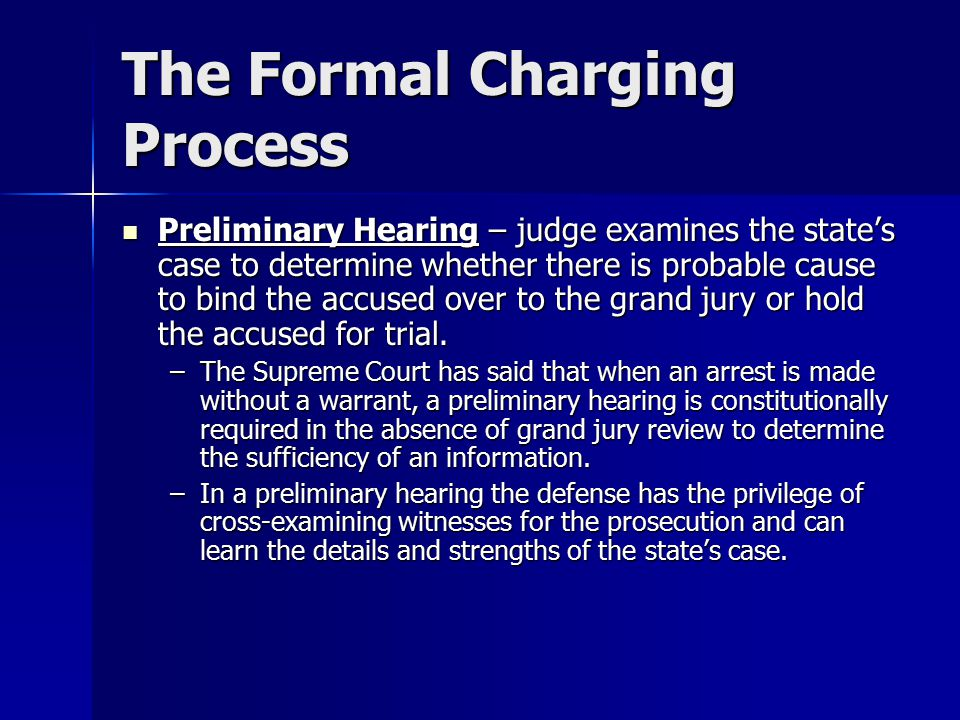 The Formal Charging Process