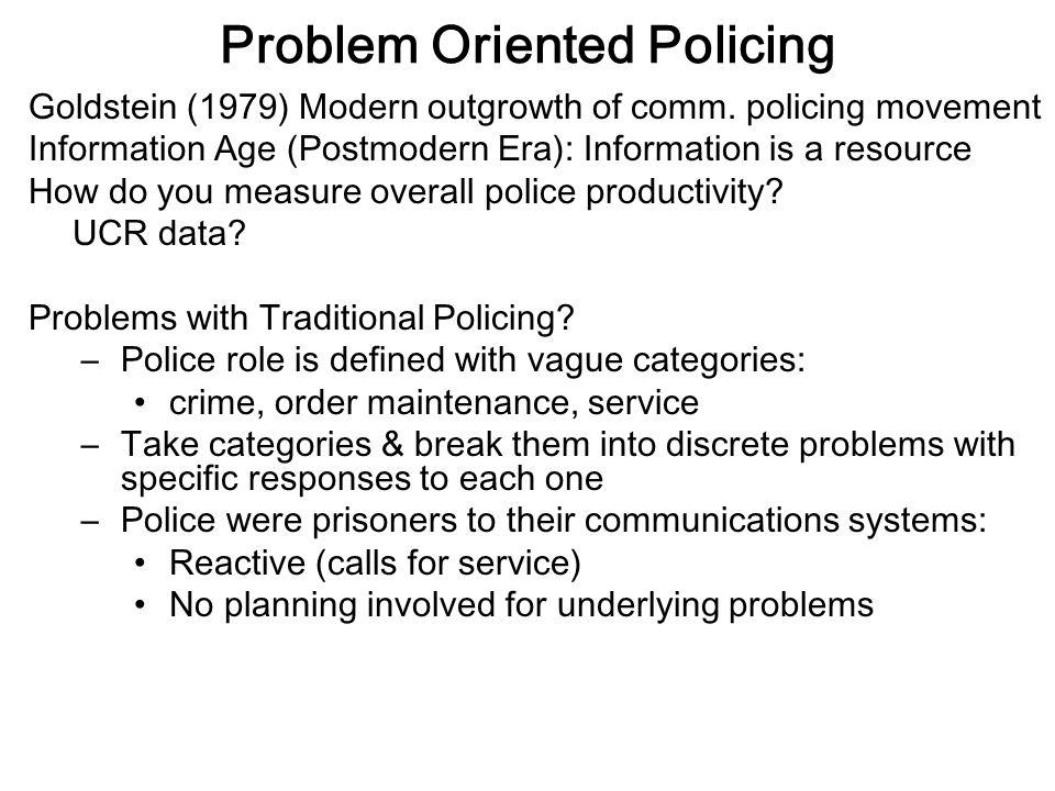 define problem oriented policing