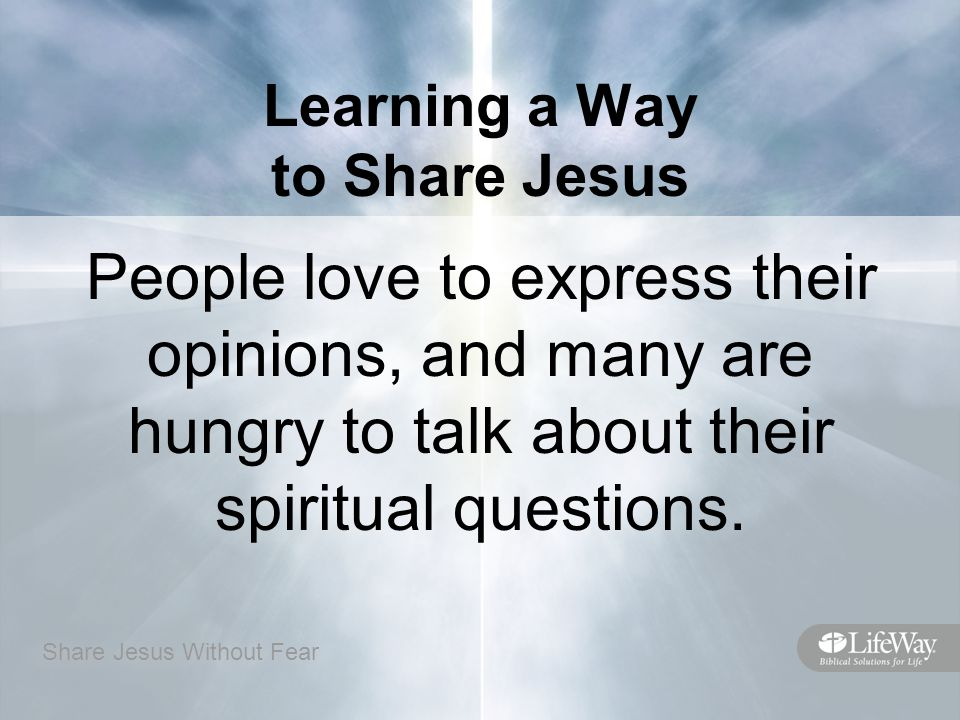share jesus without fear questions