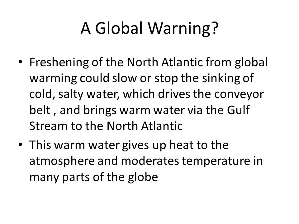 A Global Warning