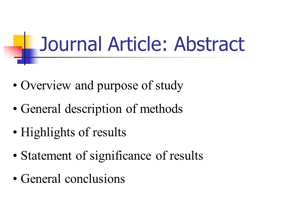 Journal Article: Abstract