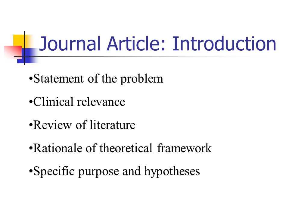 Journal Article: Introduction