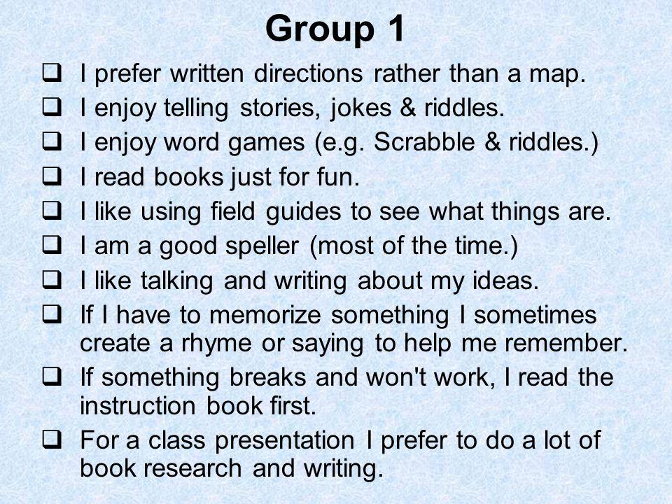 How Am I Smart  How Am I Smart Group 1 I prefer written