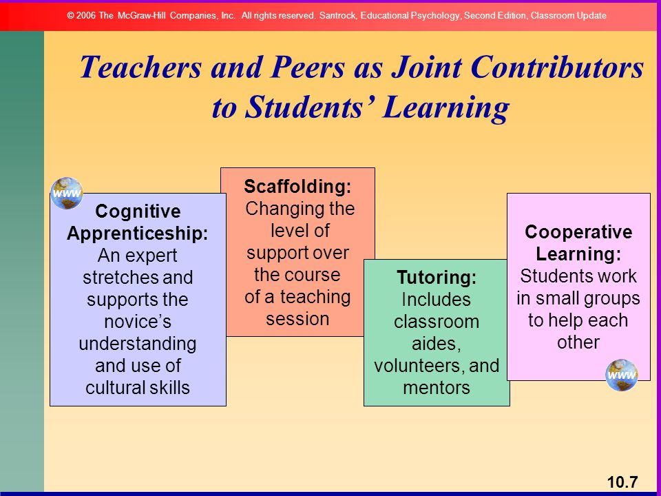 Teachers and Peers as Joint Contributors to Students' Learning