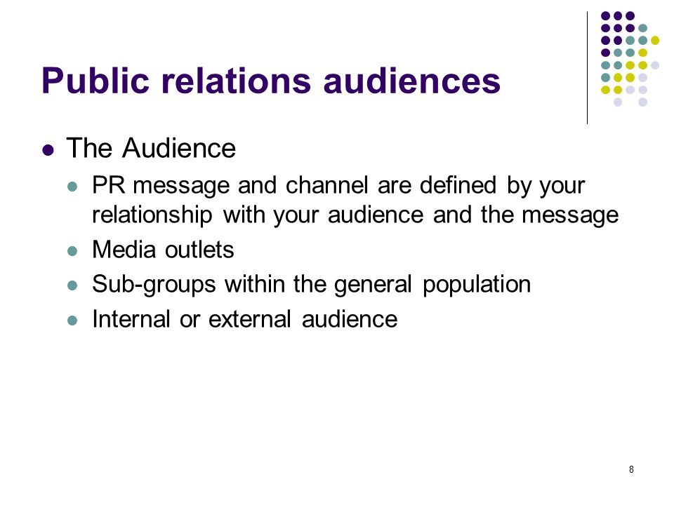 Public relations audiences