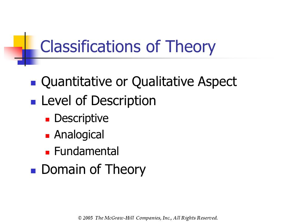 Classifications of Theory