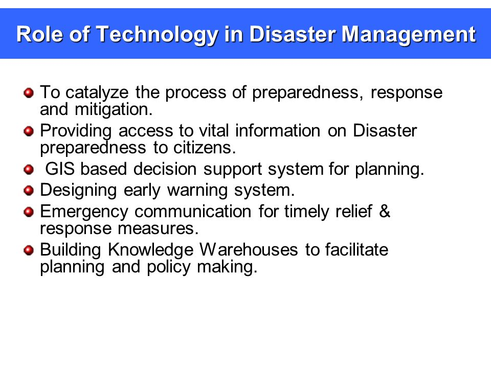 Technology in Disaster Management Shyma S G Assistant ...