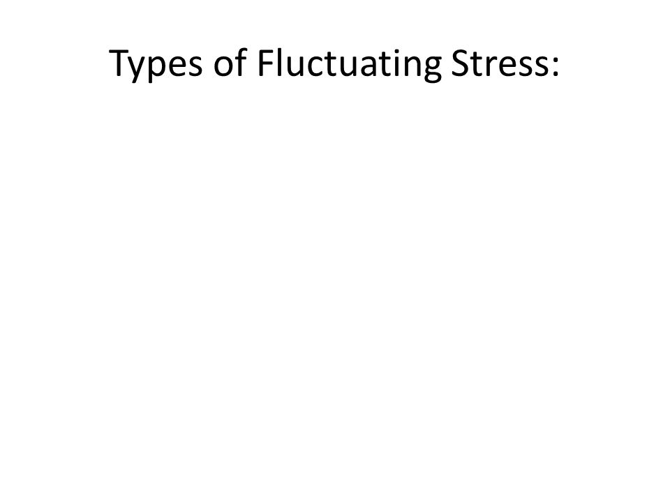 Types of Fluctuating Stress: