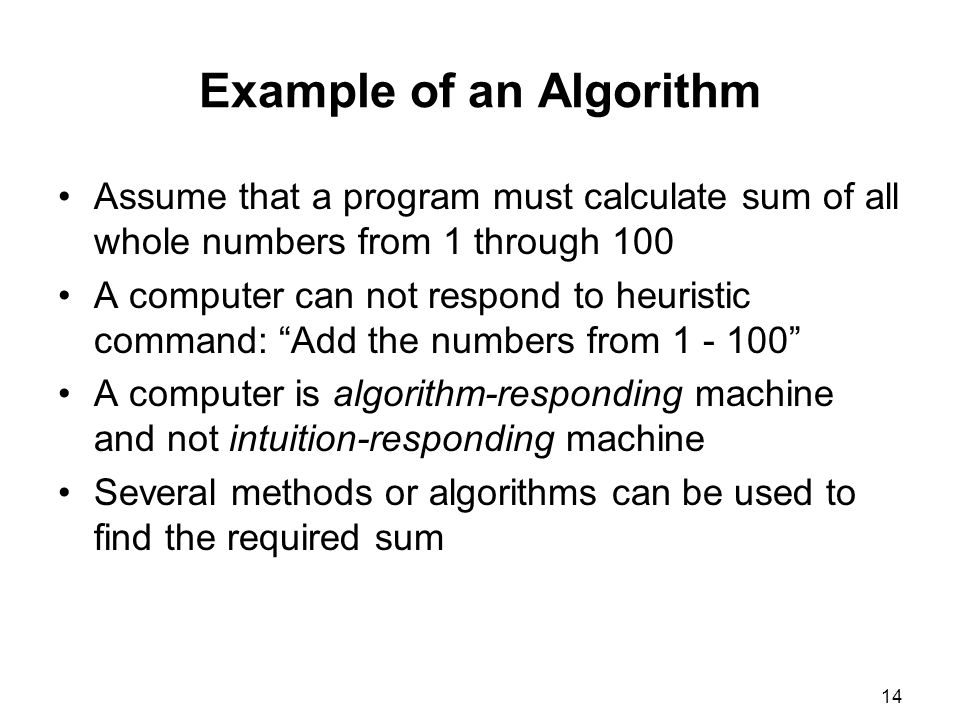 Example of an Algorithm
