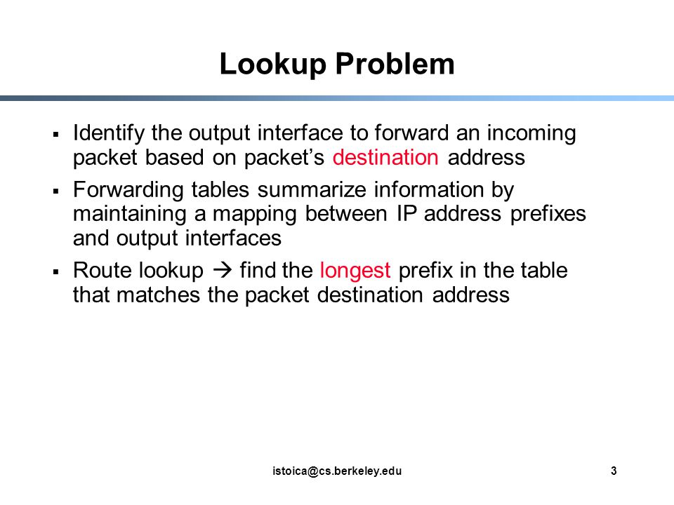 CS 268: Route Lookup and Packet Classification - ppt video