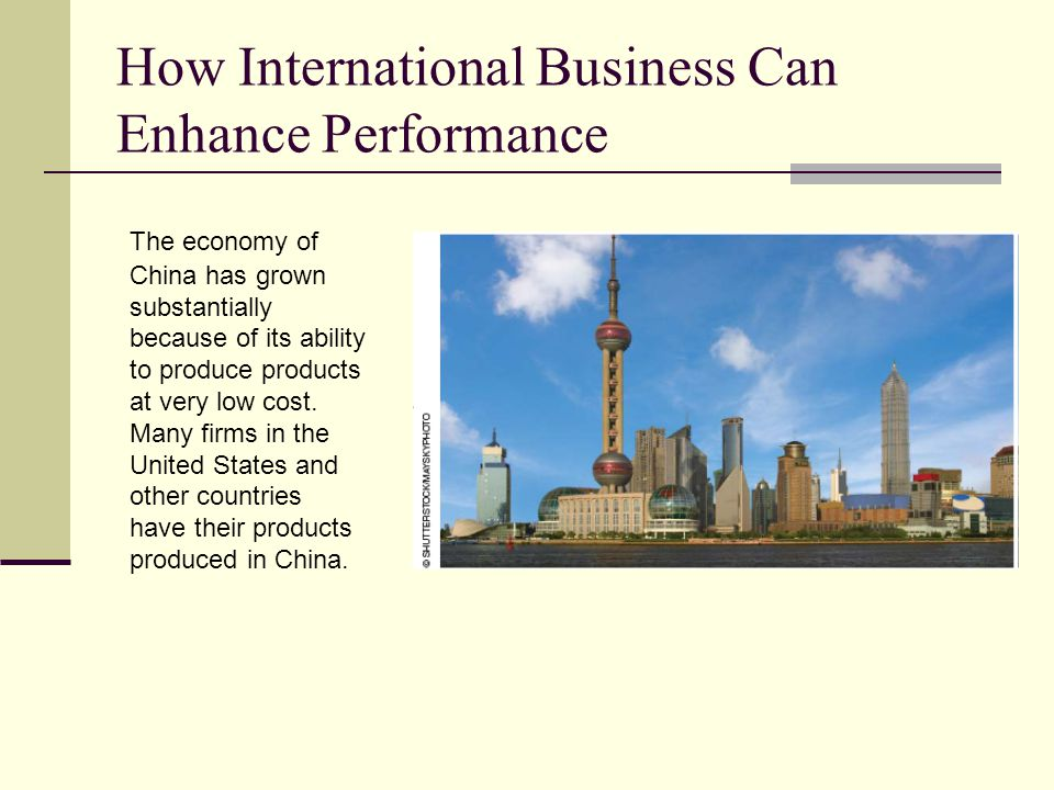 How International Business Can Enhance Performance
