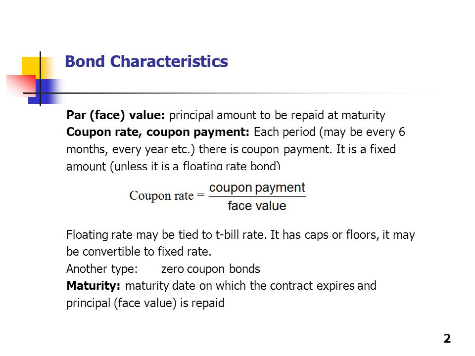 Bonds A Bond Is Long Term Debt Instrument In Which