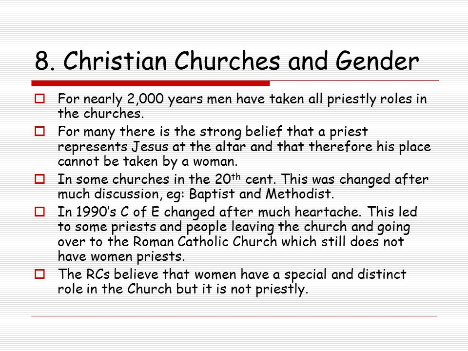 8. Christian Churches and Gender
