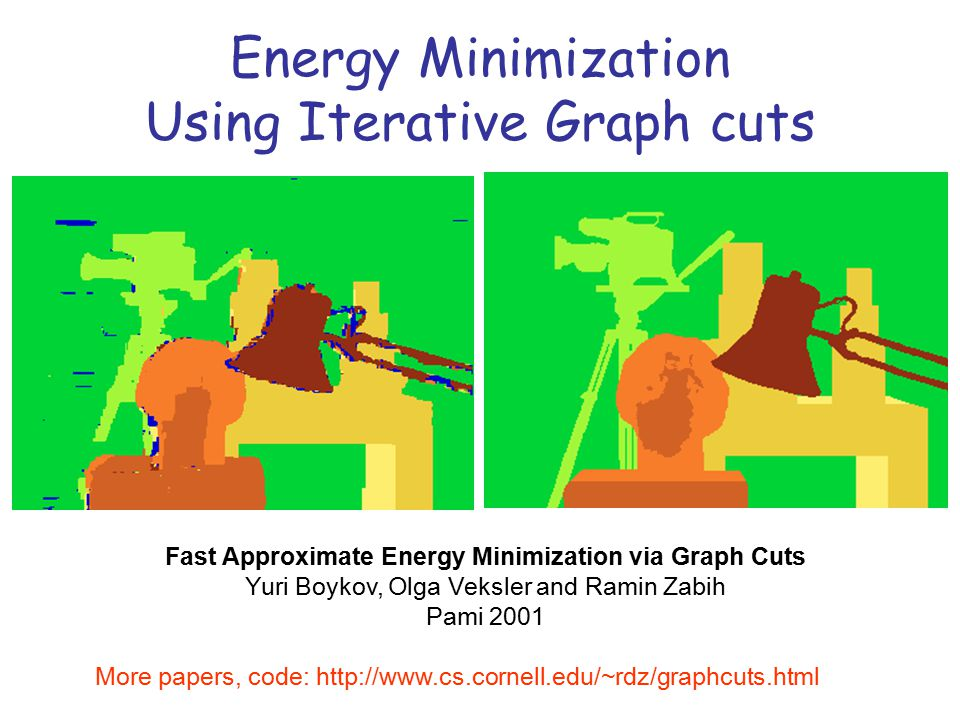 Stereo Computation using Iterative Graph-Cuts - ppt download