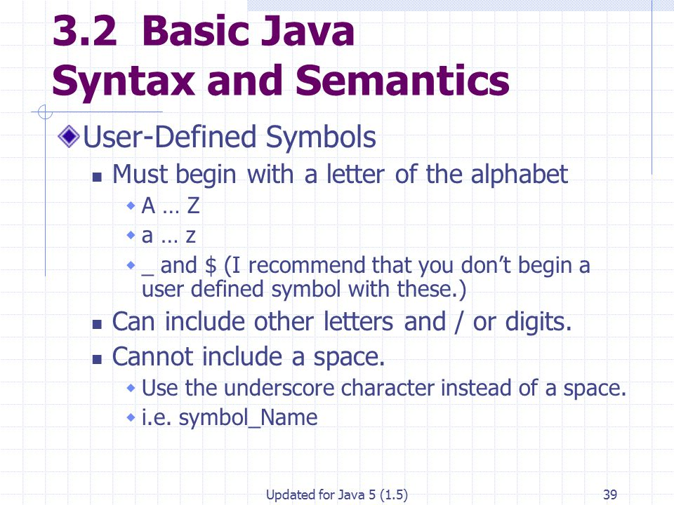 Fundamentals Of Java Lesson 3 Syntax Errors And Debugging Ppt