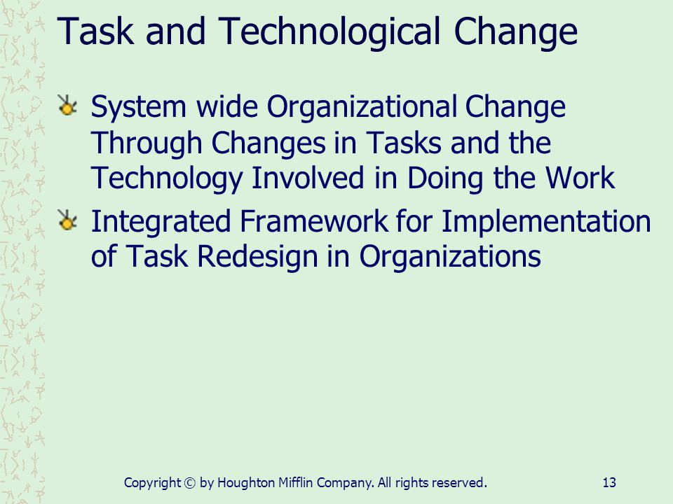Task and Technological Change