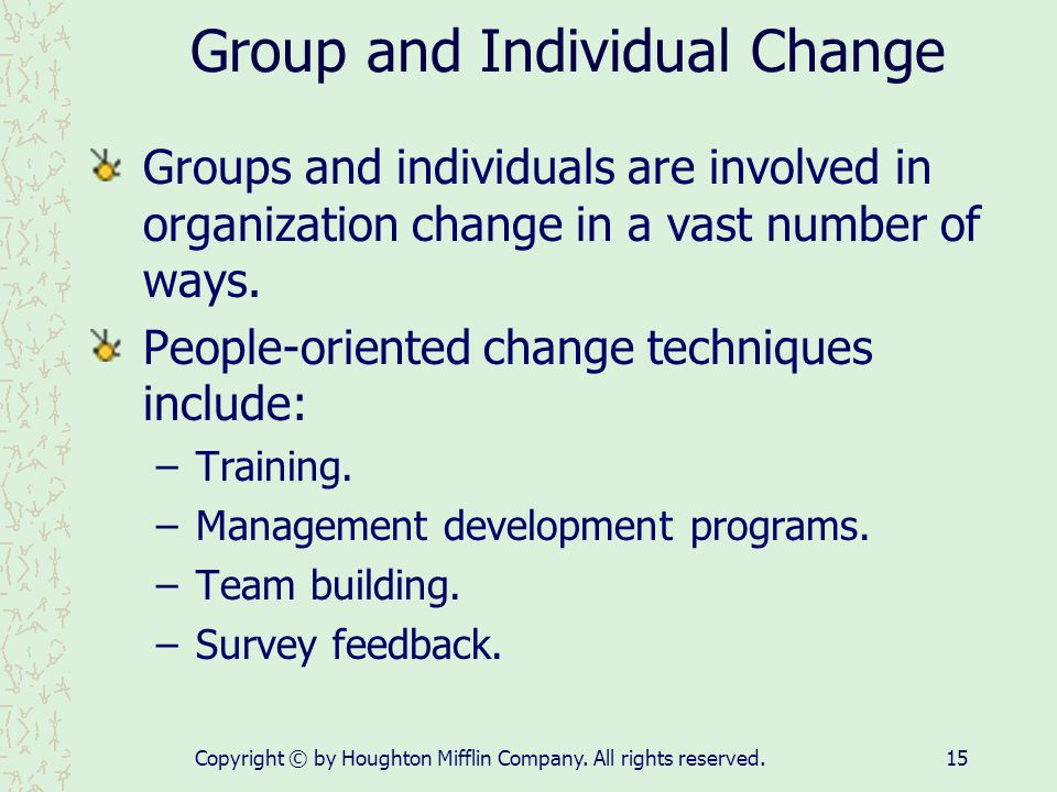 Group and Individual Change