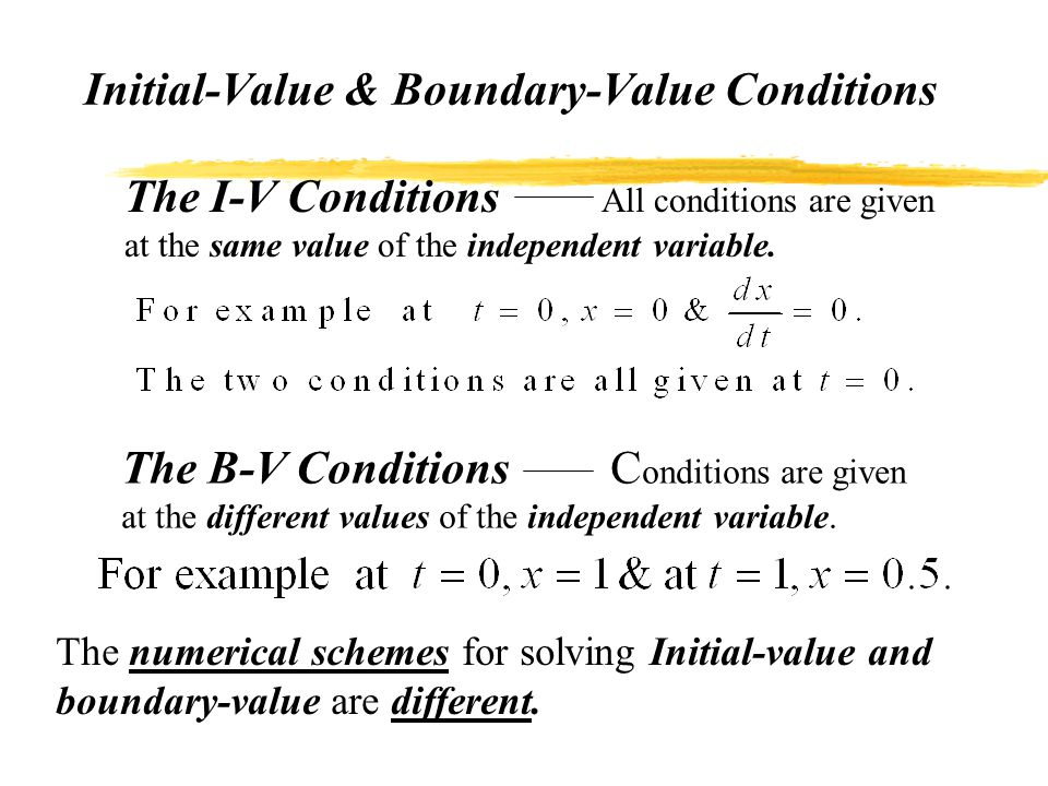 ODEs: Initial-Value Problems - ppt video online download