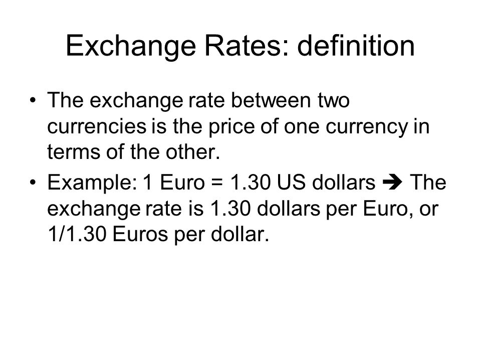 3 Exchange Rates Definition