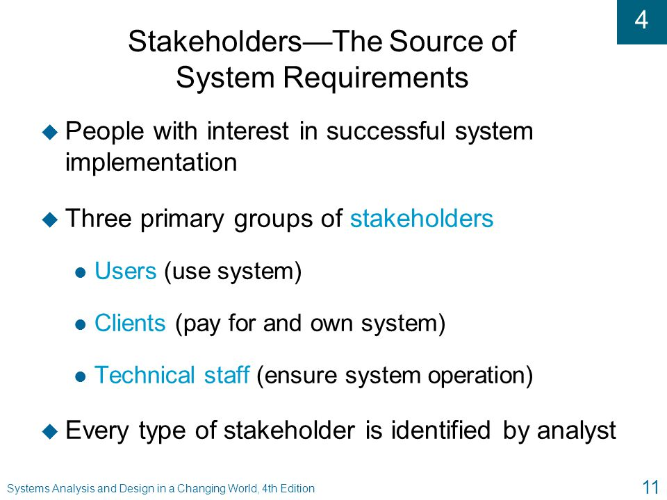 Stakeholders—The Source of System Requirements