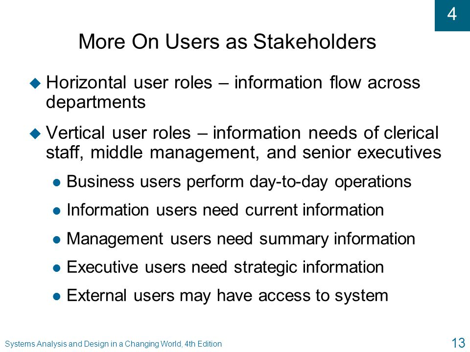 More On Users as Stakeholders