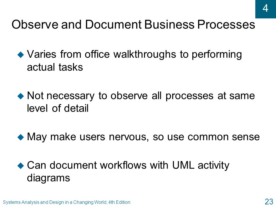 Observe and Document Business Processes